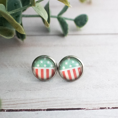 FADED FLAG EARRINGS