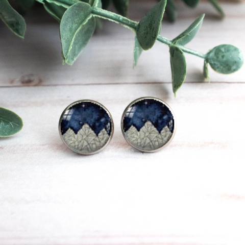 GEOMETRIC MOUNTAINS EARRINGS