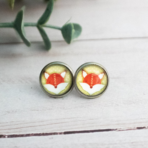 GREEN FOX EARRINGS