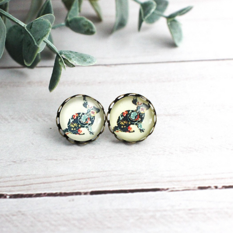 PATCHWORK BUNNY EARRINGS