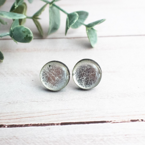 SILVER RESIN EARRINGS