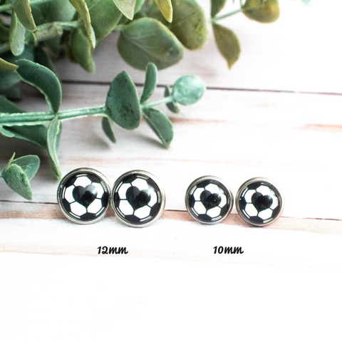 SOCCER HEART EARRINGS