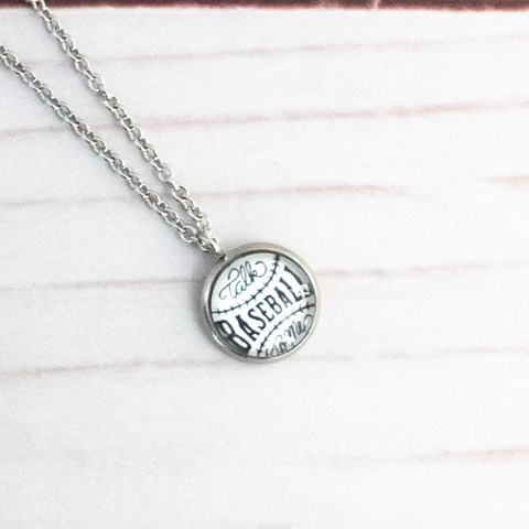 TALK BASEBALL NECKLACE