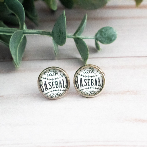 TALK BASEBALL TO ME EARRINGS