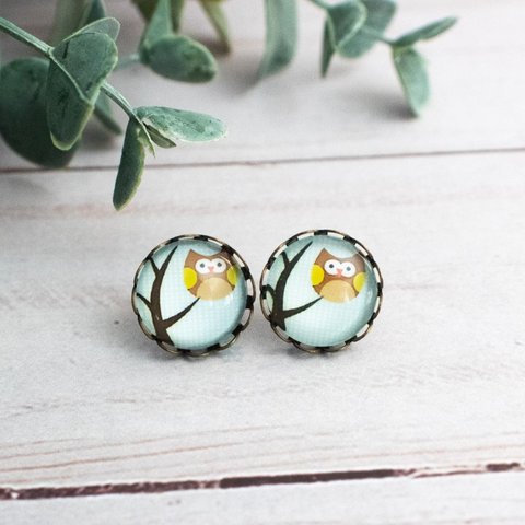TREE OWL EARRINGS