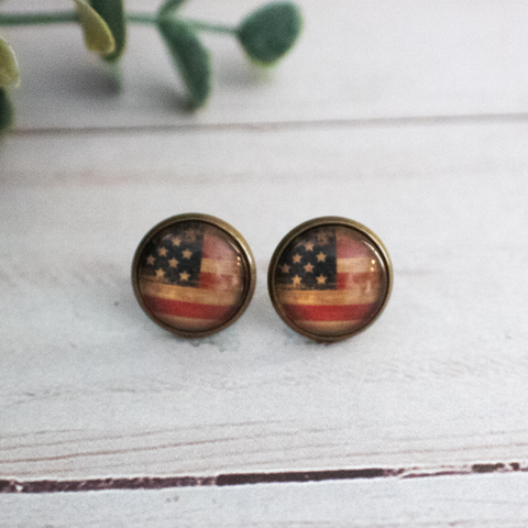 VINTAGE FLAG EARRINGS