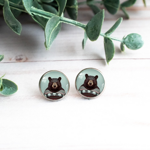 WHIMSICAL BEAR EARRINGS