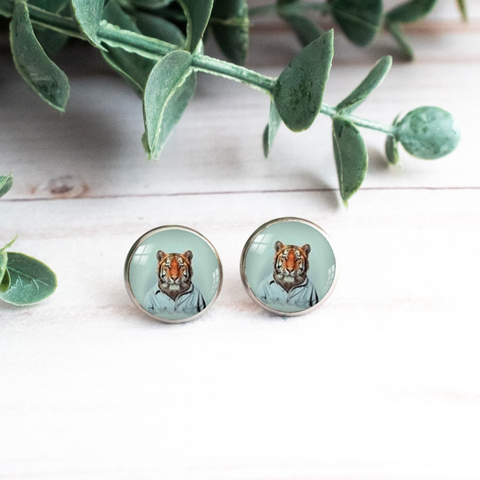WHIMSICAL TIGER EARRINGS