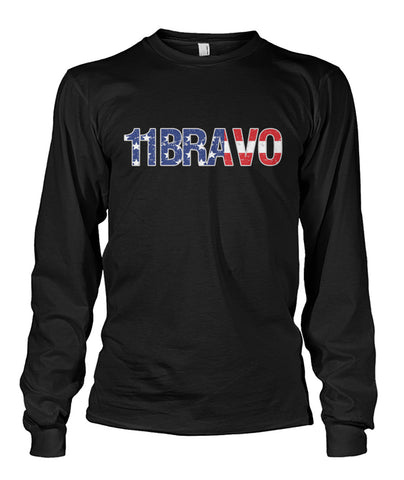 11Bravo U.S. Infantry T-shirt and Hoodie Unisex Long Sleeve