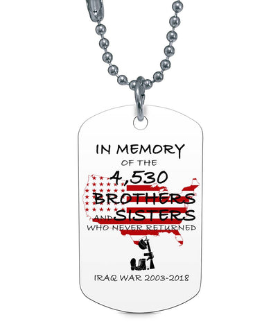 Iraq Veteran 2003-2018 Dog Tag