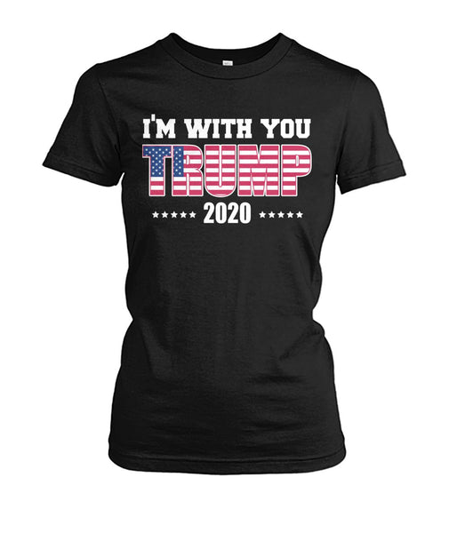 I'm With You Trump 2020 Women's Crew Tee