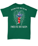 Stand For The Flag, Kneel For The Fallen T-shirt and Hoodie - Back design