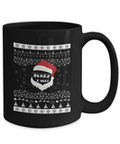 Funny Beard X-mas Coffee Mug Black Color 11oz, 15oz