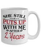 2nd Anniversary Gifts for Men, Funny 2nd Anniversary Mug for Him, 2 Years Wedding Anniversary Coffee Mug