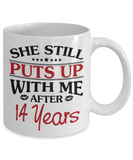 14th Anniversary Gifts for Men, Funny 14th Anniversary Mug for Him, 14 Years Wedding Anniversary Coffee Mug