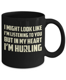 I'm Hurling - Black Mugs