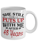 48th Anniversary Gifts for Men, Funny 48th Anniversary Mug for Him, 48 Years Wedding Anniversary Coffee Mug