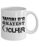 World's Okayest Golfer - White Mug