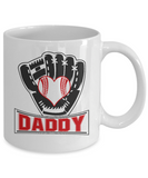 Funny Baseball Dad Mug Daddy Softball Gifts for Him Fathers Day 11oz 15oz