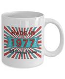 Vintage 1977 Mugs - Made In 1977 All Original Parts Cool Birthday Gifts For Men, Women 11oz 15oz