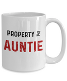 Auntie Mug Property of Auntie Funny Coffee Mugs Mothers Day Tea Cup