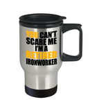 Retired Ironworker Mug, Funny Ironworker Gifts for Men, Cute Ironworker Travel Mug Tea Cup