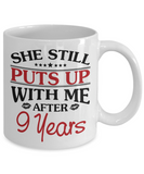 9th Anniversary Gifts for Men, Funny 9th Anniversary Mug for Him, 9 Years Wedding Anniversary Coffee Mug