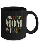 Vintage Mom 1984 Mug, 35 Years Old Birthday, 35th Anniversary Celebration Gift for Her, Mother's Day Idea