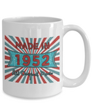 Vintage 1952 Mugs - Made In 1952 All Original Parts Cool Birthday Gifts For Men, Women 11oz 15oz