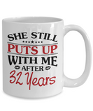 32nd Anniversary Gifts for Men, Funny 32nd Anniversary Mug for Him, 32 Years Wedding Anniversary Coffee Mug