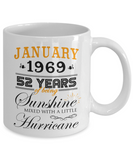 January 1969 Mugs, 52 Years Wedding Anniversary Gift for Wife, Mugs for Husband, Valentine Gift 2021