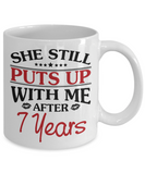 7th Anniversary Gifts for Men, Funny 7th Anniversary Mug for Him, 7 Years Wedding Anniversary Coffee Mug