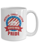 American Combat Veteran Served With Pride Coffee Mug