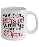 22nd Anniversary Gifts for Men, Funny 22nd Anniversary Mug for Him, 22 Years Wedding Anniversary Coffee Mug
