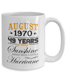 August 1970 49 Years of Being Sunshine Mixed With a Little Hurricane