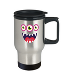 Three Eyes Ball Happy Halloween Costume Funny Travel Mug Stainless Steel 14 Oz