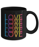 Love LGBT Pride Month 2018 Gay Pride Rainbow Colors Coffee Mug 11oz 15oz