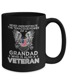 Never Underestimate The Tenacious Power Of A Grandad Who is Also A Veteran Mug