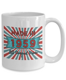 Vintage 1959 Mugs - Made In 1959 All Original Parts Cool Birthday Gifts For Men, Women 11oz 15oz