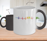 40th Birthday Gift 1978 Heartbeat Color Changing Mug for Men Women