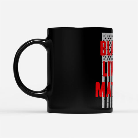 Black Lives Matter American Flag Pride - Black Mug