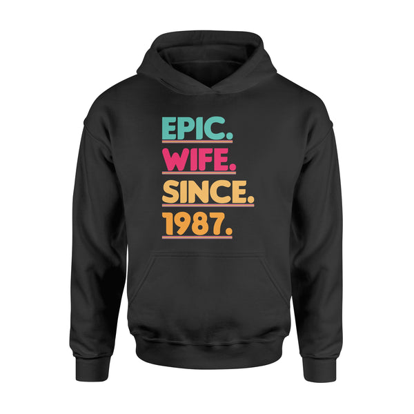 KingBubble Epic Wife Since 1987 - Standard Hoodie