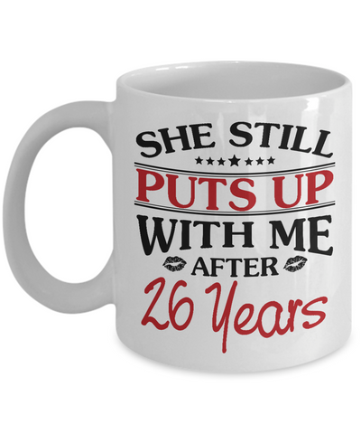 26th Anniversary Gifts for Men, Funny 26th Anniversary Mug for Him, 26 Years Wedding Anniversary Coffee Mug