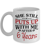6th Anniversary Gifts for Men, Funny 6th Anniversary Mug for Him, 6 Years Wedding Anniversary Coffee Mug