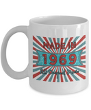 Vintage 1969 Mugs - Made In 1969 All Original Parts Cool Birthday Gifts For Men, Women 11oz 15oz