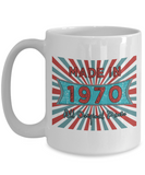 Vintage 1970 Mugs - Made In 1970 All Original Parts Cool Birthday Gifts For Men, Women 11oz 15oz