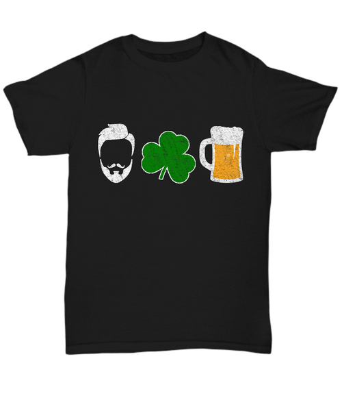 Funny Irish Shirts, I Love Beer Shirts, Funny Drinking T-Shirt for Him, Daddy Gift St. Patrick's Paddy Day
