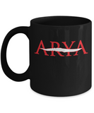 Arya Coffee Mug, Cute Arya Mug for Got Fans, Arya Sword Tea Cup