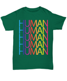 Human LGBT Pride Month 2018 Gay Pride Rainbow Colors T-shirt