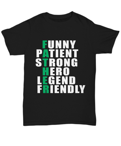 Funny Father Shirt Gift for Dad, Grandpa, Papa